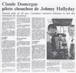 Claude Domergue : Pilote chouchou de Johnny Hallyday