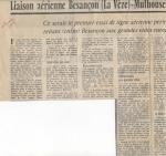 Liaison aérienne Besançon-La Vèze - Mulhouse